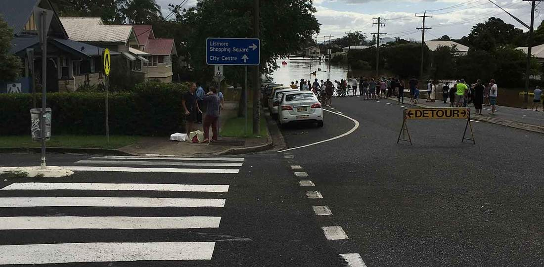 Ballina Road Flooded